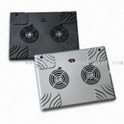 Laptop Desktop Stand/Cooling Pad with Built-in 2 Slim Fans images
