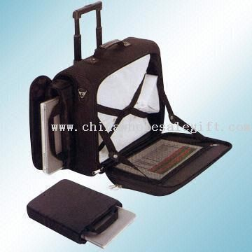 Laptop Trolley Case with Padded Pouch