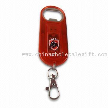 Bottle Opener USB Flash Drive with 64MB to 32GB Memory Capacity