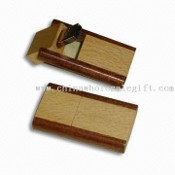 Wooden Case Flash Drive with Swivel USB Connector images