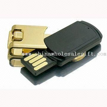 Swivel Cap USB Flash Drive with 64MB to 8GB Flash Memory and 10 Years Data Retention
