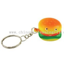 Hamburger/stress reliever key chain/key tag/key holder/food images