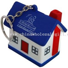 House-stress reliever key chain/key tag/key holder images