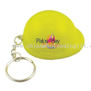 Hard hat stress reliever key chain.