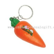 Carrot stress reliever key chain images