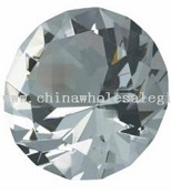 Crystal Faceted Diamond Paperweight images