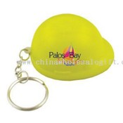 Hard hat stress reliever key chain. images