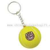 Mini stress tennis ball with key chain images