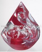 Red Diamond Glass Paperweight images