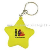 Star stress reliever key chain images