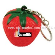 Strawberry stress reliever key chain images