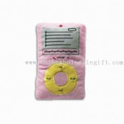 Plushed MP3, FM Scanned Radio with Speaker, Buttons for On, Off, Scan, Reset and Volume images