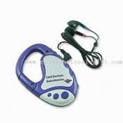 Radio with Pocket-sized, Carabiner FM Auto Scanning Radio with Earphone images