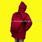Backpack Raincoat Made of Polyester Taffetta images