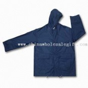 PU Rainwear Jacket with Hood and Two Front Pockets images