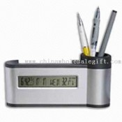 Calendar and Name-card Stand with Pen Holder Clock Time images