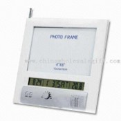 LCD Display Desk Calendar with Multifunctional FM Radio images