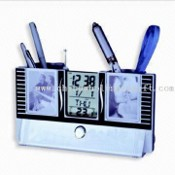 Pen Holder with FM Radio, Calendar and Photo Frame images