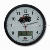 Promotional wall clock with calendar images