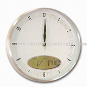 Wall Clock with LCD Calendar, Made of Metal images