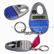 Multifunction/Databank Calculator with Hook, Compass, Cover, and Key Ring images