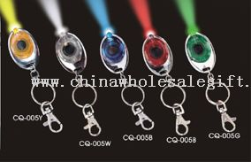 Led Round Keychain With Lithium Battery