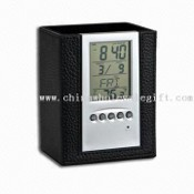 Full-function Electronic Calendar with Pen Holder and Thermometer images