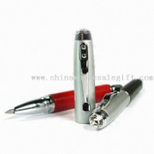 Metal Ballpen with 2pcs Swarovski Crystal Chatons images