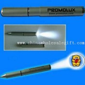 Metal LED Projection Pen with Torch images