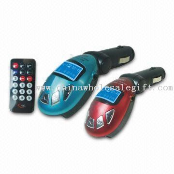 Car MP3 Player with 12 to 24V Car Charger Power Supply
