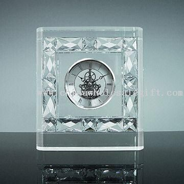 Crystal Clock, Made of Clear K9 Optical Glass