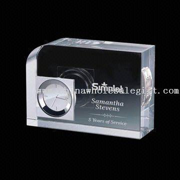 Crystal Clock Award Crystal Clock Award in Different Sizes