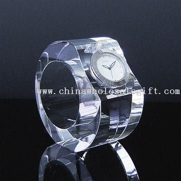 Crystal Clock in Ring Shape