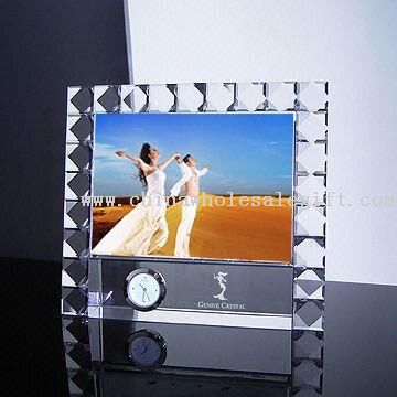 Crystal/Glass Photo Frame, Suitable for Gift and Premium Award Purpose