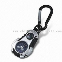 Keychain Watch with Compass and Carabiner images