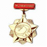 Gold Plated Medal, Made of Zinc Alloy, with Artistic Pattern