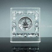 Crystal Clock, Made of Clear K9 Optical Glass images