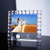 Crystal/Glass Photo Frame, Suitable for Gift and Premium Award Purpose images