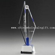 Optinen Crystal palkinnon Crystal Trophy (Golf Awards) 3D/2D laserkaiverrus images
