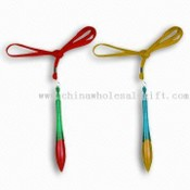 Ballpoint Pens with Lanyard and Measures 14.1 x 1.17cm, Available in Various Colors images