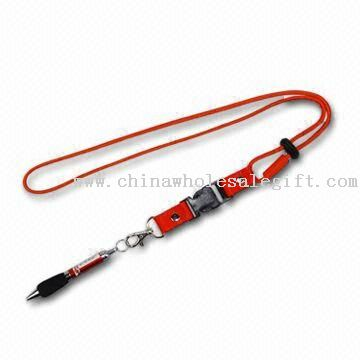 Nylon Lanyard/Cord with Ballpoint Pen, Customized Colors are Accepted