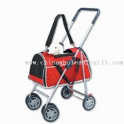 Pet Stroller with 360 Degrees Turning Wheels and Adjustable Shoulder Strap images