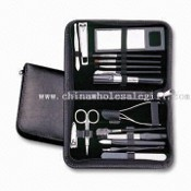 16-in-1 Makeup Kit & Manicure (Pedicure) Set with PU Leather Pouch images