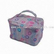 Cosmetic Case with Small Toiletry Kits Inside Pouches, Made of Printed Fabric images