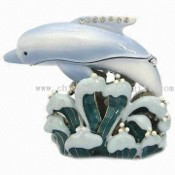 Dolphin-shaped Jewelry Trinket Box images