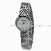 Watch with 6 Crystal Stones, Alloy Case and Band images