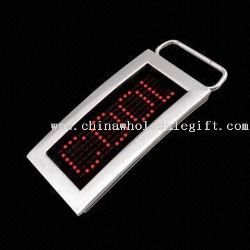 LED Name Badge, Available with Different Belt Buckles