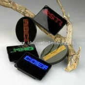 LED Badge with Word Edition Function and Five Color Options images