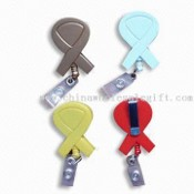 Retractable Badge Holder with Belt Clip and PVC Strap images