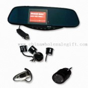 Bluetooth Handsfree Rear-view Mirror Car Kit with Camera and 3.5-inch TFT Screen Inside images